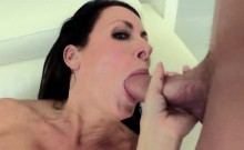 Smoking hot MILF shows cock sucking skills to step son