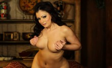 Aria Giovann get naked Strips and shows off her body
