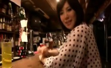 Bodacious Japanese babe sucking and stroking a hard shaft t