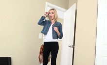 Tight blond stepsis Haley Reed gets nailed in many poses