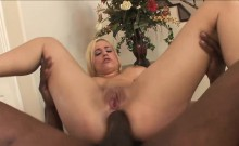 Hot interracial action with a busty blonde