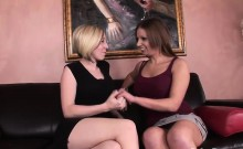 Two curvy hotties have some lesbian fun