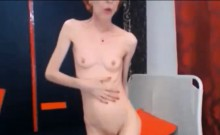 Skinny sexy mature shows off on webcam
