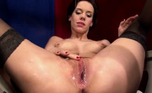 Hot German brunette loves masturbating and having her pussy