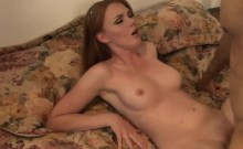 Kinky ginger cutie has her pussy plugged