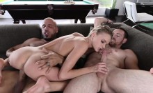 Blonde spinner Emma Hix awesome 3some fuck