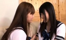 Amateur Asian lesbians playing on cam