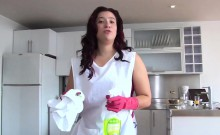 OPERACION LIMPIEZA - Latina cleaning lady fucks a hard cock