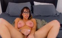 Nerdy Big Tits Chick Plays Herself Wildly