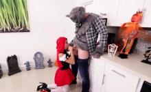 Costumed tiny teen pussy plowed ballsdeep