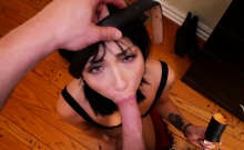 Stunning young Rina Ellis fucked and facialized by stepdad