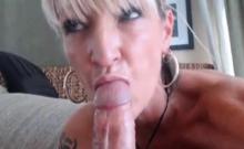 Blonde Milf Sucks & Fucks On Cam