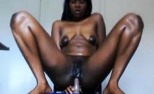 Cam Ebony Anal Masturbation Stretching