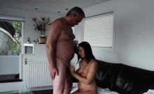 Sexy slender hooker mounts a big shlong and rides him wildly