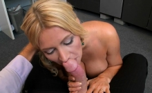 Babe gets her large tits licked and pussy drilled hard