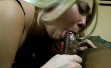 Big Cock Blonde Amateur With Glasses Drools On Cock