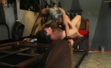 This bonded whore tears up in way-out humiliation scene