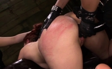 Tattoed Slut Taking Huge Toys Up Her Gaping Wet Snatch