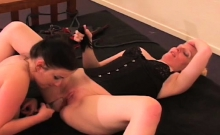 Nasty thrashing and sex in bondage video