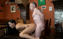 Redhead learns anal with daddy and old man big tits first ti