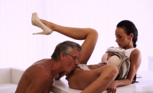 Fucking step daddy Finally she's got her manager dick