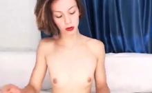 The Most Hot Nerdy Brunette Teen Webcam Masturbation