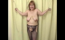 Seductive Nylon And Fetish Porn For Hot Busty Woman