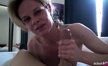 Extrem Skinny German Mom in Real Homemade First Time Porn