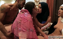 Big booty teen Hot arab girls attempt foursome