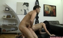 Busty hungarian Lexy licked and analed reamed by Roccos dick
