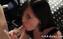 College Couple Blowjob Cumshot Facial