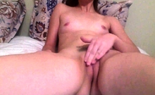 gorgeous young rubbing small tits orgasm 400