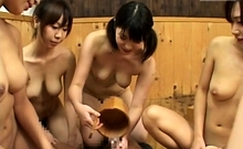 Japanese harem sex party in bathhouse Subtitles