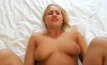 Sexy Blonde With Big Natural Boobs Gets Drilled In POV