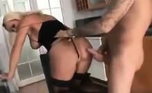 Blonde Busty MILF In Stockings