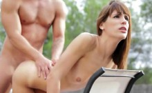 Gorgeous Ex Girlfriend Fucked From Behind Outdoors